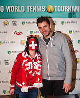 Februari 12, 2015, Netherlands, Rotterdam, Ahoy, ABN AMRO World Tennis Tournament, Meet and greet with Stanislas Wawrinka (SUI)<br /> Photo: Tennisimages/Henk Koster