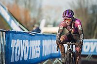 Alicia Franck (BEL/Proximus - Alphamotorhomes - Doltci)<br /> <br /> CX Belgian Nationals 2021<br /> <br /> Women's Elite Race<br /> Belgian National CX Championships<br /> Meulebeke 2021<br /> <br /> ©kramon