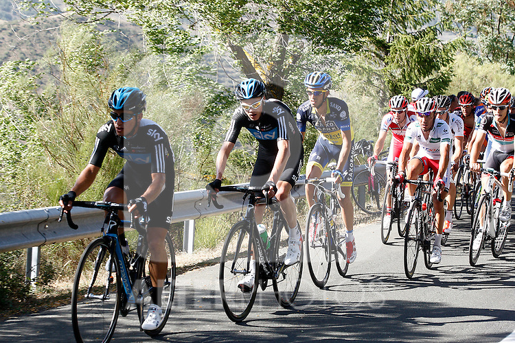 Sergio Luis Henao, Christopher Froome , Alberto Contador and Joaquin Purito Rodriguez leading during the stage of La Vuelta 2012 between Barakaldo and Valdezcaray.August 21,2012. (ALTERPHOTOS/Paola Otero)