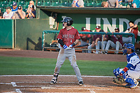 Kyle Isbel (4) of the Idaho Falls Chukars bats against the Ogden Raptors at Lindquist Field on July 2, 2018 in Ogden, Utah. The Raptors defeated the Chukars 11-7. (Stephen Smith/Four Seam Images)