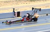 Jul. 27, 2014; Sonoma, CA, USA; NHRA top fuel driver Doug Kalitta during the Sonoma Nationals at Sonoma Raceway. Mandatory Credit: Mark J. Rebilas-