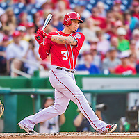 6 September 2014: Washington Nationals second baseman Asdrubal Cabrera in action against the Philadelphia Phillies at Nationals Park in Washington, DC. The Nationals fell to the Phillies 3-1 in the second game of their 3-game series. Mandatory Credit: Ed Wolfstein Photo *** RAW (NEF) Image File Available ***