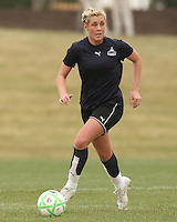 Allie Long of the Washington Freedom during a WPS pre season match against Sky Blue F.C. at Maryland Soccerplex,in Boyd's, Maryland on March 14 2009. Sky Blue won the match 1-0