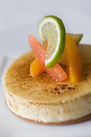 Europe/France/2B/Haute Corse/Calvi: Gratin de Citron Corse - recette de Christophe Bacquié  Chef du restaurant: Le Bistrot à  l'Hotel La Villa, Meilleur Ouvrier de France