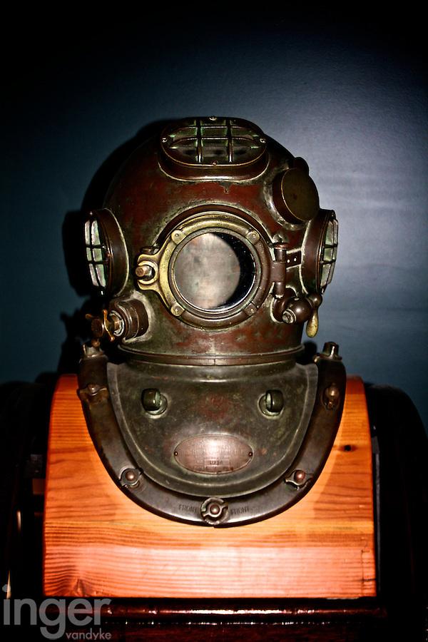 Diver's Helmet at the Shipreck Museum, Warrnambool