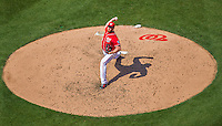 24 May 2015: Washington Nationals pitcher Aaron Barrett on the mound against the Philadelphia Phillies at Nationals Park in Washington, DC. The Nationals defeated the Phillies 4-1 to take the rubber game of their 3-game weekend series. Mandatory Credit: Ed Wolfstein Photo *** RAW (NEF) Image File Available ***
