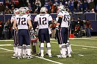 Teamhuddle New England Patriots<br /> New York Giants vs. New England Patriots<br /> *** Local Caption *** Foto ist honorarpflichtig! zzgl. gesetzl. MwSt. Auf Anfrage in hoeherer Qualitaet/Aufloesung. Belegexemplar an: Marc Schueler, Am Ziegelfalltor 4, 64625 Bensheim, Tel. +49 (0) 6251 86 96 134, www.gameday-mediaservices.de. Email: marc.schueler@gameday-mediaservices.de, Bankverbindung: Volksbank Bergstrasse, Kto.: 151297, BLZ: 50960101