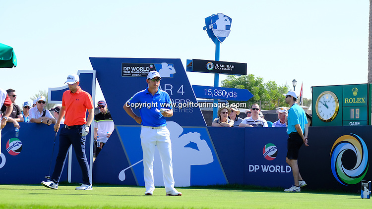 Pablo LARRAZABAL (ESP) during round two of the 2016 DP World Tour Championships played over the Earth Course at Jumeirah Golf Estates, Dubai, UAE: Picture Stuart Adams, www.golftourimages.com: 11/18/16
