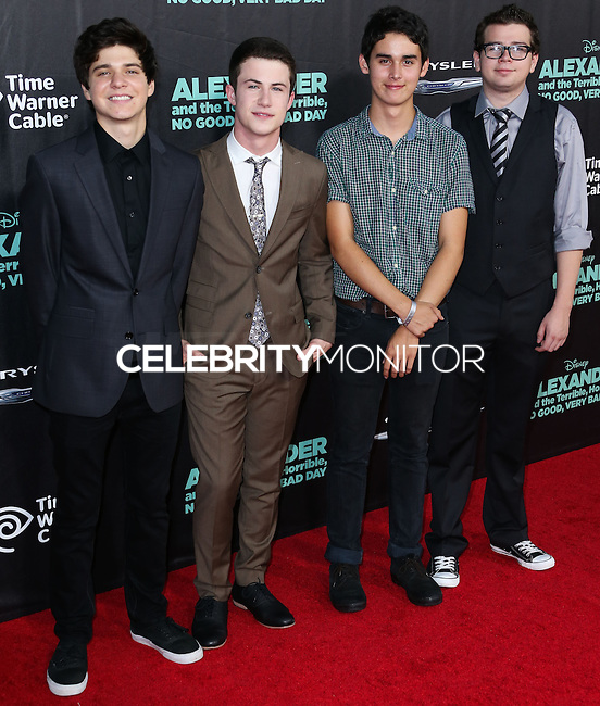 HOLLYWOOD, LOS ANGELES, CA, USA - OCTOBER 06: Dylan Minnette, The Narwhals arrive at the World Premiere Of Disney's 'Alexander And The Terrible, Horrible, No Good, Very Bad Day' held at the El Capitan Theatre on October 6, 2014 in Hollywood, Los Angeles, California, United States. (Photo by Xavier Collin/Celebrity Monitor)