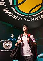 Rotterdam, The Netherlands, 12 Februari 2019, ABNAMRO World Tennis Tournament, Ahoy, first round singles: Denis Shapovalov (CAN),<br /> Photo: www.tennisimages.com/Henk Koster