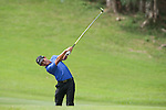 Cheng-tsung Pan of Taiwan hits the ball during Hong Kong Open golf tournament at the Fanling golf course on 25 October 2015 in Hong Kong, China. Photo by Xaume Olleros / Power Sport Images
