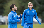 St Johnstone Training…14.04.17<br />Davd Wotherspoon watches Richie Foster during training at McDiarmid Park this morning ahead of tomorrow's game against Aberdeen.<br />Picture by Graeme Hart.<br />Copyright Perthshire Picture Agency<br />Tel: 01738 623350  Mobile: 07990 594431