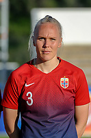 20200307  Lagos , Portugal : Norwegian defender Maria Thorisdottir (3) pictured during the female football game between the national teams of Germany and Norway on the second matchday of the Algarve Cup 2020 , a prestigious friendly womensoccer tournament in Portugal , on saturday 7 th March 2020 in Lagos , Portugal . PHOTO SPORTPIX.BE | STIJN AUDOOREN