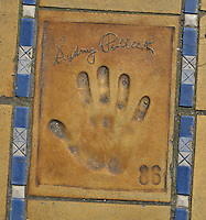 Hand print of the film director, Sydney Pollack, outside the Palais des Festivals et des Congres, Cannes, France.