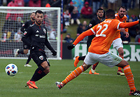 Boyds,MD. - Saturday March 17 2018: DC United and the Houston Dynamo played to a  2-2 tie in a MLS match at the Maryland Soccerplex.