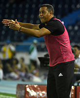 BARRANQUILLA - COLOMBIA - 03 - 12 - 2017: Dario Rodriguez, asistente técnico de America de Cali durante partido de vuelta de los cuartos de final entre Atletico Junior y America de Cali por la Liga Aguila II - 2017, jugado en el estadio Metropolitano Roberto Melendez de la ciudad de Barranquilla. / Dario Rodriguez, coach assistant of America de Cali during a match of the of the second leg of the quarter of finals between Atletico Junior and America de Cali for the Liga Aguila II - 2017 at the Metropolitano Roberto Melendez Stadium in Barranquilla city, Photo: VizzorImage  / Alfonso Cervantes / Cont.