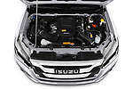 Car Stock 2019 Isuzu D-Max LSX-4wd-crew-cab 5 Door Pick-up Engine  high angle detail view