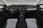 Stock photo of straight dashboard view of 2017 Volkswagen Jetta S 4 Door Sedan Dashboard