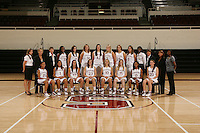 STANFORD, CA - OCTOBER 9:  Top row (l to r): Kerry Blake, Kate Paye, Amy Tucker, Nneka Ogwumike, Morgan Clyburn, Kayla Pedersen, Sarah Boothe, Jayne Appel, Ashley Cimino, Michelle Harrison, Bobbie Kelsey, Tara VanDerveer, Marcella Shorty, and Dorothy Boakye-Donkor. Bottom row: Rosalyn Gold-Onwude, Grace Mashore, Jillian Harmon, Jeanette Pohlen, JJ Hones, Lindy La Rocque, Melanie Murphy, and Hannah Donaghe of the Stanford Cardinal during picture day on October 9, 2008 at Maples Pavilion in Stanford, California.