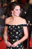 Kate, Duchess of Cambridge<br /> at the 2017 BAFTA Film Awards held at The Royal Albert Hall, London.<br /> <br /> <br /> ©Ash Knotek  D3225  12/02/2017