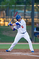 AZL Dodgers left fielder Kyle Garlick (6) at bat during a rehab start against the AZL Brewers on July 25, 2017 at Camelback Ranch in Glendale, Arizona. AZL Dodgers defeated the AZL Brewers 8-3. (Zachary Lucy/Four Seam Images)