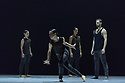 """London, UK. 06.03.2018. Ballet British Columbia starts its first UK tour at Sadler's Wells.  """"16+ a room"""", part of the mixed bill, is choreographed by the company's artistic director, Emily Molnar. Lighting design is by Jordan Tuinman, with costumes by Kate Burrows.The dancers are: Brandon Alley, Andrew Bartee, Emily Chessa, Livona Ellis, Alexis Fletcher, Scott Fowler, Patrick Kilbane, Racheal Prince, Justin Rapaport, Peter Smida, Christoph von Riedemann, Nicole Ward, Kirsten Wickland. Photograph © Jane Hobson."""