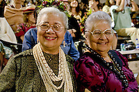 Spectators including family and friends enjoy the Merrie Monarch Festival 2008