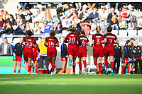 Gothenburg, Sweden - Thursday June 08, 2017: United States  during an international friendly match between the women's national teams of Sweden (SWE) and the United States (USA) at Gamla Ullevi Stadium.