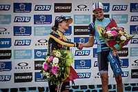 podium:<br /> <br /> 1st place: Elizabeth Deignan (GBR/Trek Segafredo),<br /> 2nd place: Marianne Vos (NED/Jumbo Visma)<br /> <br /> <br /> Inaugral Paris-Roubaix Femmes 2021 (1.WWT)<br /> One day race from Denain to Roubaix (FRA) (116.4km)<br /> <br /> ©kramon