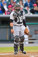 Jackson Generals catcher Ralph Henriquez #12 on defense against the Tennessee Smokies at Smokies Park on April 13, 2012 in Kodak, Tennessee.  The Smokies defeated the Generals 4-1.  (Brian Westerholt/Four Seam Images)