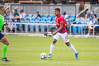 SAN JOSE, CA - APRIL 24: Bryan Acosta #8 of FC Dallas dribbles the ball during a game between FC Dallas and San Jose Earthquakes at PayPal Park on April 24, 2021 in San Jose, California.