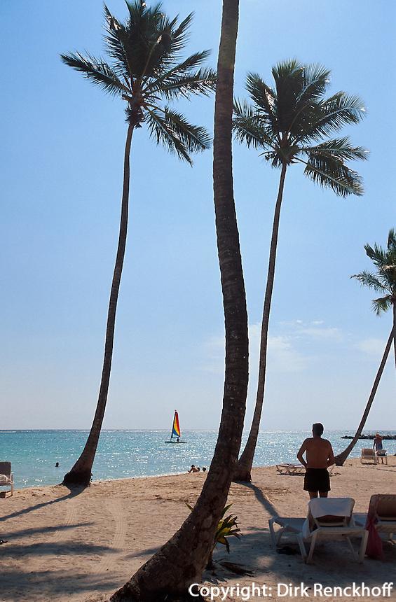 Dominikanische Republik, Strand im Punta Cana Beach Resort und Club