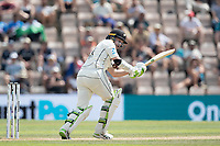 Tom Latham, New Zealand defends into the on side during India vs New Zealand, ICC World Test Championship Final Cricket at The Hampshire Bowl on 23rd June 2021