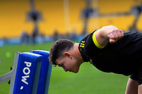 Ricky Riccitelli warms up for the Super Rugby Aotearoa match between the Hurricanes and Highlanders at Sky Stadium in Wellington, New Zealand on Sunday, 12 July 2020. Photo: Dave Lintott / lintottphoto.co.nz