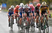race leader group including eventual race winner Mads Pedersen (DEN/Trek-Segafredo)<br /> <br /> 82nd Gent-Wevelgem in Flanders Fields 2020 (1.UWT)<br /> 1 day race from Ieper to Wevelgem (232km)<br /> <br /> ©kramon