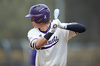 Will Prater (5) of the Western Carolina Catamounts at bat against the St. John's Red Storm at Childress Field on March 13, 2021 in Cullowhee, North Carolina. (Brian Westerholt/Four Seam Images)