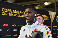 Glendale, AZ - Saturday June 25, 2016: Colombia arriving prior to a Copa America Centenario third place match match between United States (USA) and Colombia (COL) at University of Phoenix Stadium.