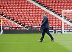 St Johnstone v Hibs…22.05.21  Scottish Cup Final Hampden Park<br />Saints manager Callum Davidson pictured on the Hampden Park pitch shortly after arriving<br />Picture by Graeme Hart.<br />Copyright Perthshire Picture Agency<br />Tel: 01738 623350  Mobile: 07990 594431