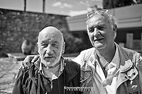 Gianni Berengo Gardin con il prof. Enzo Carli - Benevento - Hortus Conclusus - Benevento - 2013