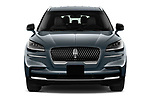 Car photography straight front view of a 2021 Lincoln Aviator - 5 Door SUV Front View