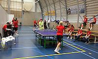 """19-12-10, Tennis, Rotterdam, Reaal Tennis Masters 2010, Ballenkinderen in hun """"honk"""""""