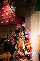 Spain - Barcelona - A statue of the Virgin Mary is seen in a leather shop in the Ciudad Vella.