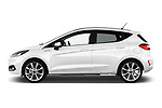 Car driver side profile view of a 2018 Ford Fiesta Vignale Base 5 Door Hatchback
