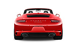 Straight rear view of a 2017 Porsche 911 Carrera 2 Door Convertible stock images