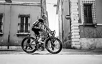 Rafał Majka (POL/BORA-hansgrohe) on his way to the start<br /> <br /> Stage 10: Ravenna to Modena (147km)<br /> 102nd Giro d'Italia 2019<br /> <br /> ©kramon