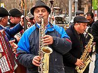 Street musicians, Madrid, Spain