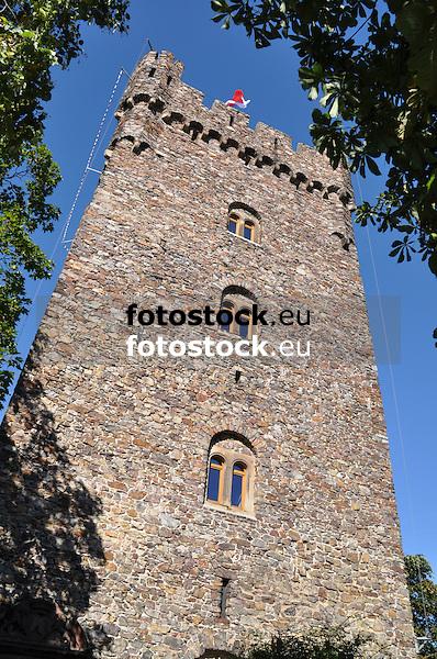 Burgfried der Burg Klopp in Bingen