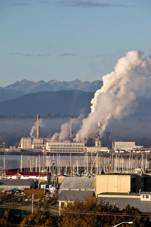 Port Townsend Paper, Pulp Mill, Puget Sound, Washington State, Pacific Northwest,