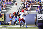 Kansas Jayhawks safety Dexter Linton (23) in action during the game between the Kansas Jayhawks and the TCU Horned Frogs  at the Amon G. Carter Stadium in Fort Worth, Texas. TCU defeats Kansas 27 to 17.