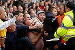 Barnsley v Sheffield Wednesday<br /> 26.10.2013<br /> Sky Bet Championship<br /> Picture Shaun Flannery/Trevor Smith Photography<br /> Wednesday fans celebrate the Matt Fryatt equaliser,